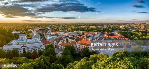 tartu old town - estonia stock photos and pictures