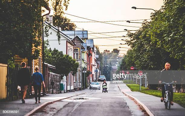 tartu streets. - estonia fotografías e imágenes de stock