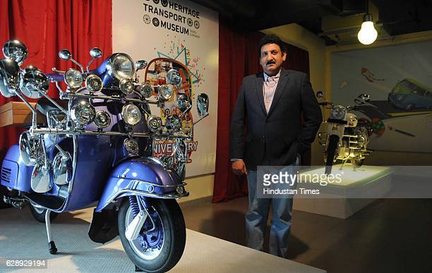 Tarun Thakral Founder and Managing Trustee of Heritage Transport Museum at BilaspurTauru Road on December 10 2016 in Gurgaon India The Heritage...