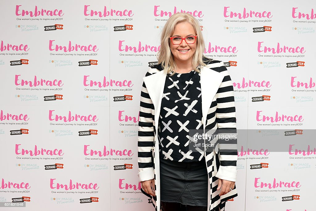Taryn Brumfitt arrives for the UK premiere of 'Embrace' at Odeon Covent Garden on January 16, 2017 in London, England.