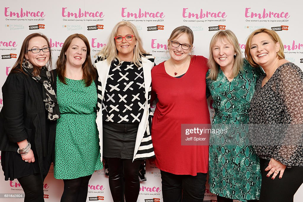 Taryn Brumfitt (3rd L) meets fans ahead of the UK premiere of 'Embrace' at Odeon Covent Garden on January 16, 2017 in London, England.