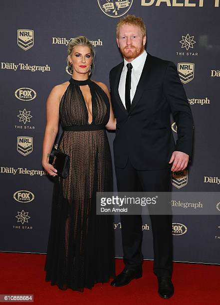 Taryn Burgess and James Graham arrive at the 2016 Dally M Awards at Star City on September 28 2016 in Sydney Australia