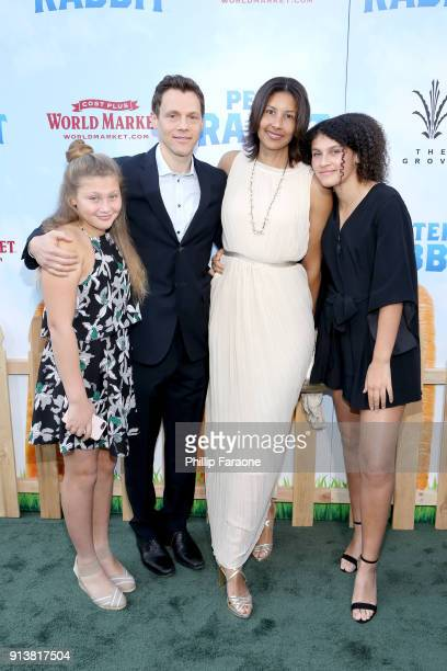 Taryn Gluck director/writer/producer Will Gluck Trista Gladden and Lexi Gluck attend the premiere of 'Peter Rabbit' sponsored by Cost Plus World...
