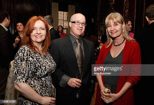 Taryn Herbert T Sean Herbert and Donna Dees attend the book launch for Dan Rather's Rather Outspoken My Life In The News at the Drawing Room at the...