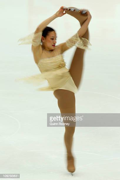 Taryn Jurgensen of Thailand skates in the Ladies Short Program during day three of the Four Continents Figure Skating Championships at Taipei Arena...