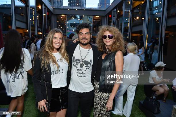 Taryn Krampton Oussamah Ghandour and Brigitte Segura attend the Blanc Magazine Summer Soiree on July 24 2018 in New York City