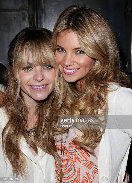 Taryn Manning and Amber Lancaster attend Scorpio soiree birthday celebration for Taryn Manning Courtenay Semel and Michelle Marie at The Beverly on...