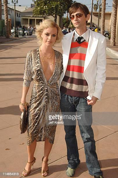 Taryn Manning and DJ Qualls during 2005 MTV Movie Awards Red Carpet at Shrine Auditorium in Los Angeles California United States