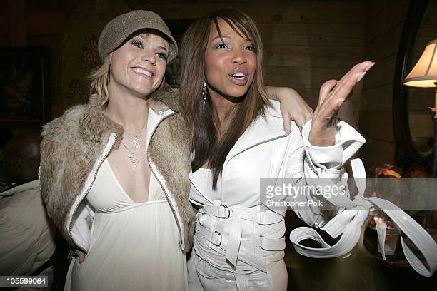 Taryn Manning and Elise Neal during 2005 Sundance Film Festival 'Hustle and Flow' After Party at Premiere Lounge in Park City Utah United States