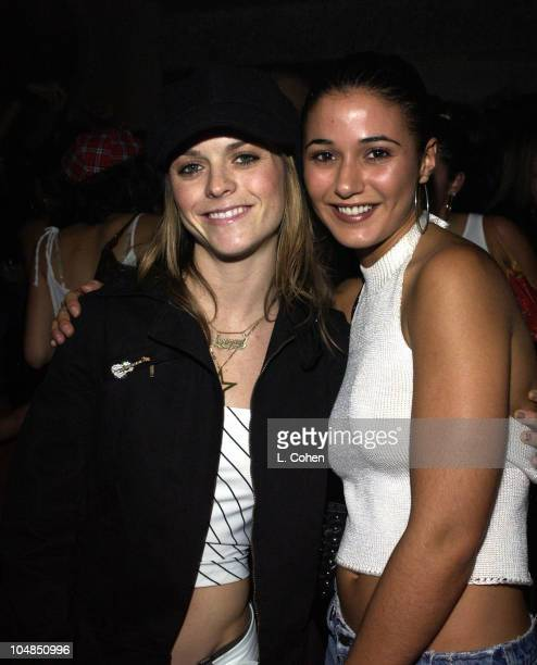 Taryn Manning and Emmanuelle Chriqui during Bolthouse Prod Presents STYLING Magazine's Launch Party at Club AD in Los Angeles California United States