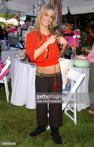 """Taryn Manning and her dog during """"Silver Spoon Dog and Baby Buffet"""" Benefiting Much Love Animal Rescue - Day Two at Private Residence in Beverly..."""