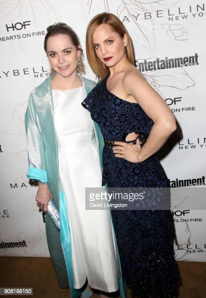 Taryn Manning and Mena Suvari attend Entertainment Weekly's Screen Actors Guild Award Nominees Celebration sponsored by Maybelline New York at...