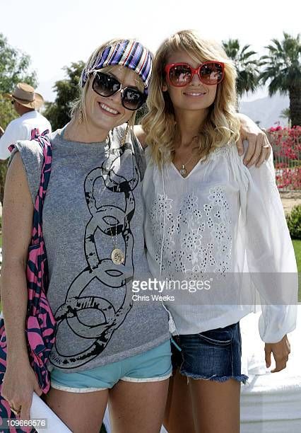 Taryn Manning and Nicole Richie during DKNY Jeans and Motorola Host Private Desert Oasis During the 2006 Coachella Music Festival Day One at Private...