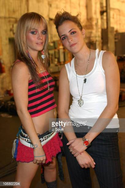 Taryn Manning and Samantha Ronson during Samantha Ronson's First Music Video in Los Angeles, California, United States.