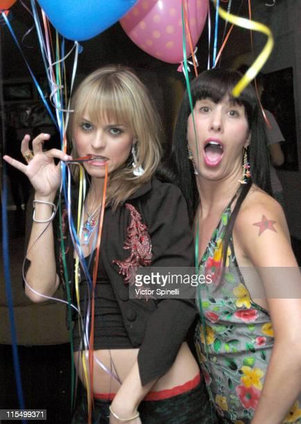 Taryn Manning and Siri Garber during Taryn Manning and Siri Garber's Birthday Party at HQ Salon in Hollywood California United States