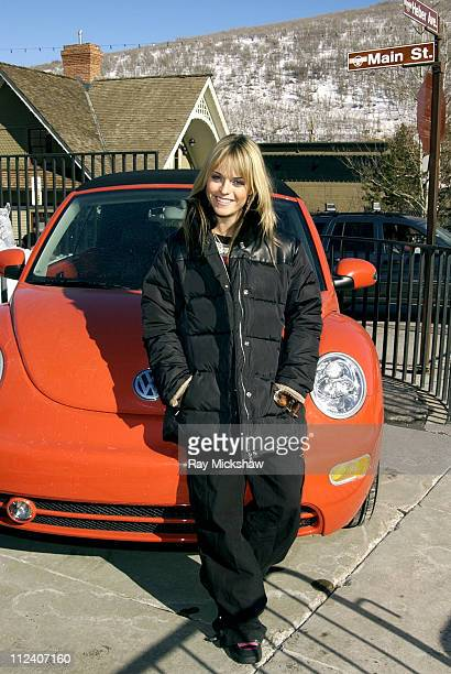 Taryn Manning and the new VW Beetle Convertible during 2004 Sundance Film Festival - VW at Sundance 2004 - Taryn Manning in Park City, Utah, United...