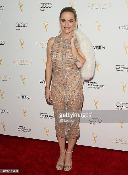 Taryn Manning attends the Television Academy's celebration for the 67th Emmy Award nominees for outstanding performances at Pacific Design Center on...
