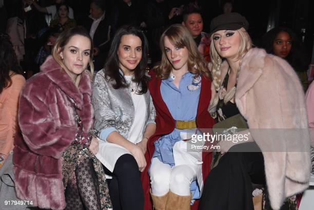 Taryn Manning Jenna Leigh Green Emma Myles and Francesca Curran attend the Vivienne Tam front row during New York Fashion Week at Spring Studios on...