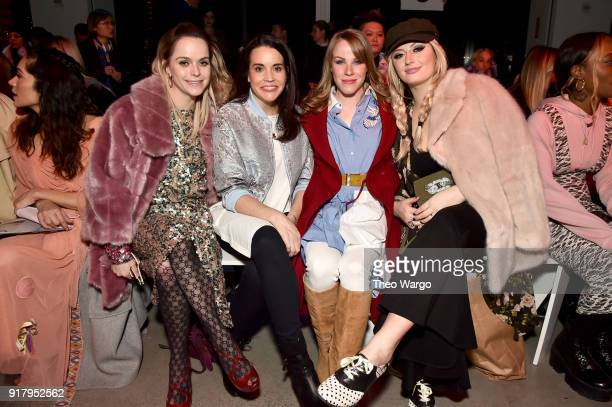 Taryn Manning JennaLeigh Green Emma Myles and Francesca Curran attend the Vivienne Tam front row during New York Fashion Week The Shows at Gallery I...
