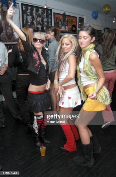 Taryn Manning Nicole Richie and Caroline D'Amore during Taryn Manning and Siri Garber's Birthday Party at HQ Salon in Hollywood California United...