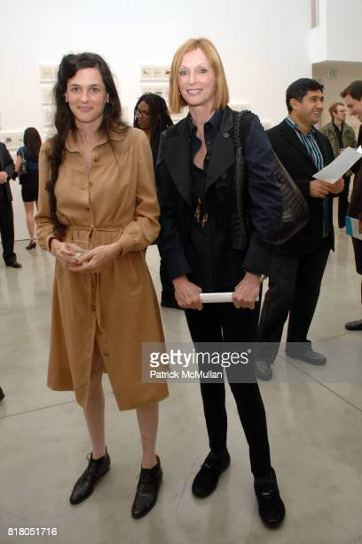 Taryn Simon and Edie Baskin attend Taryn Simon CONTRABAND at Gagosian Gallery at Gagosian Gallery on September 22 2010 in Beverly Hills California
