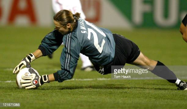 Taryn Swiatek of Canada makes a save during game action at PGE Park in Portland Oregon October 2 2003 Canada defeated China 10 in The 2003 Women's...