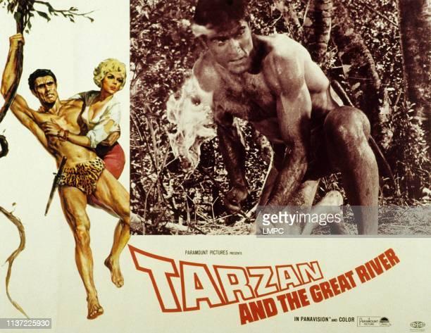 Tarzan And The Great River lobbycard Mike Henry Diana Millay 1967