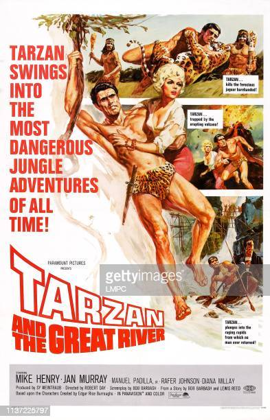 Tarzan And The Great River poster US poster art Mike Henry Diana Millay 1967
