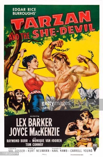 Tarzan And The Shedevil poster US poster art Monique van Vooren Lex Barker Joyce Mackenzie 1953