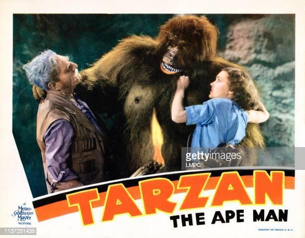 Tarzan The Ape Man poster lobbycard from left C Aubrey Smith Ray Corrigan Maureen O'Sullivan 1932