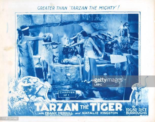 Tarzan The Tiger, US lobbycard, from left: Natalie Kingston, Kithnou, 1929.