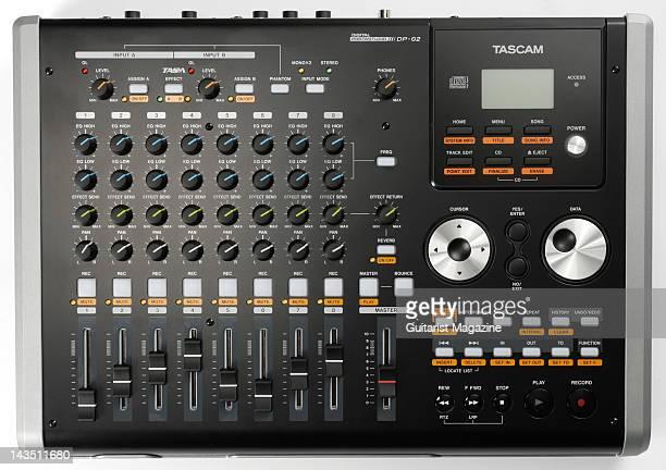 A Tascam DP02 Digital Portastudio personal studio recorder during a studio shoot for Guitarist Magazine April 1 2008