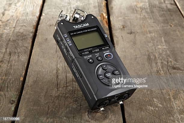 A Tascam DR40 external audio recorder taken on April 25 2012