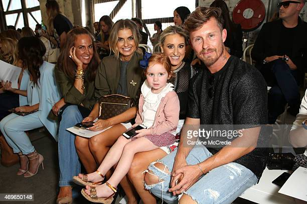 Tash Sefton Elle Ferguson Roxy Jacenko with daughter Pixie Rose Curtis and Max May attend the Maticevski show at MercedesBenz Fashion Week Australia...