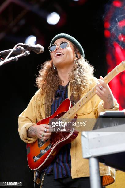 Tash Sultana performs on the Sutro Stage during the 2018 Outside Lands Music And Arts Festival at Golden Gate Park on August 12 2018 in San Francisco...