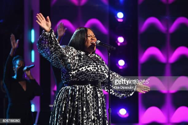 Tasha Cobbs Leonard performs onstage during Black Girls Rock 2017 at NJPAC on August 5 2017 in Newark New Jersey