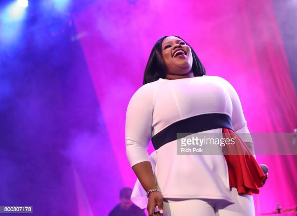 Tasha Cobbs performs onstage during a Celebration of Gospel Live sponsored by Nissan at the BETX main stage during the 2017 BET Experience at Los...