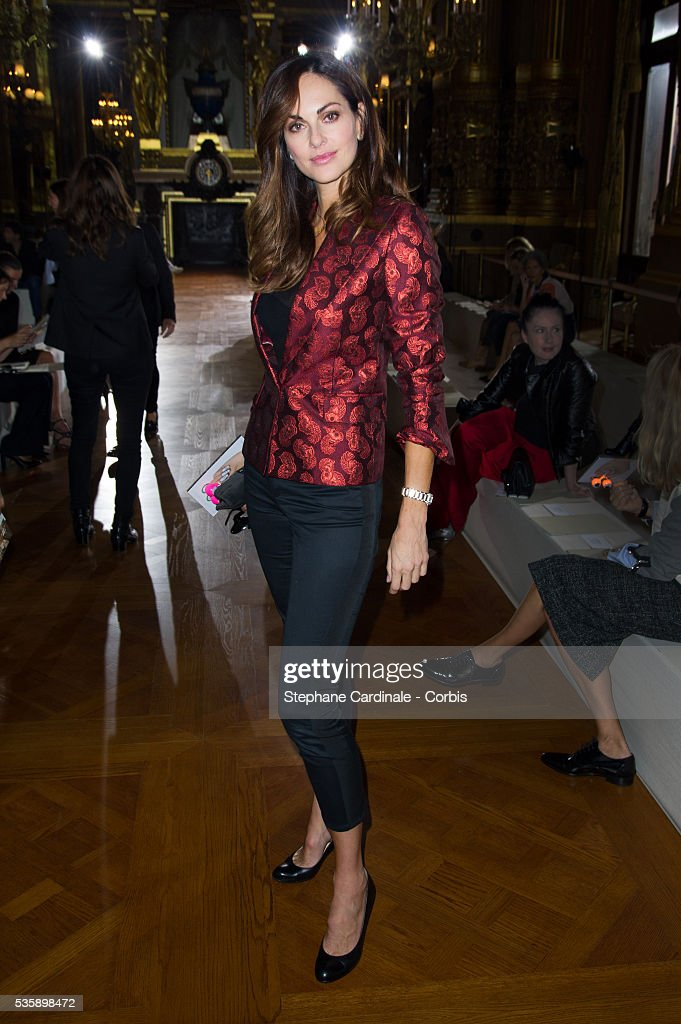 Tasha de Vasconcelos attends Stella McCartney show, as part of the Paris Fashion Week Womenswear Spring/Summer 2014, at the Opera Garnier in Paris.