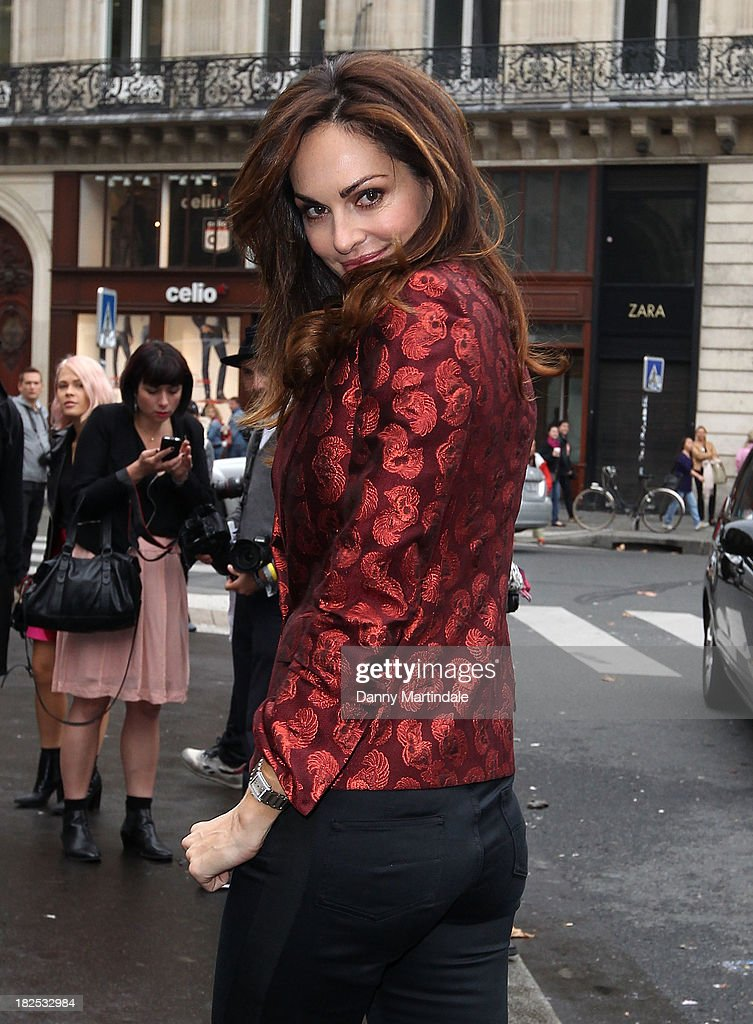 Celebrity Sightings At Paris Fashion Week - Womenswear SS14 - Day 7