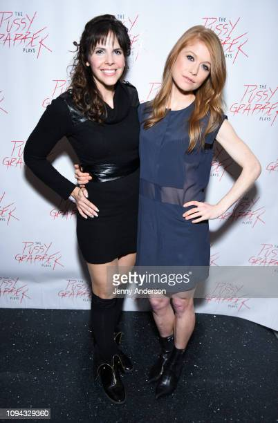Tasha Dixon and Genevieve Angelson attend The Pussy Grabber Plays at Joe's Pub on January 14 2019 in New York City