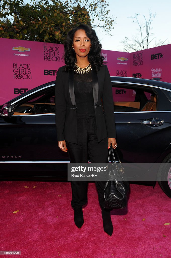 Tasha Smith attends BET Black Girls Rock arrivals presented by Chevy at New Jersey Performing Arts Center on October 26, 2013 in Newark, New Jersey.