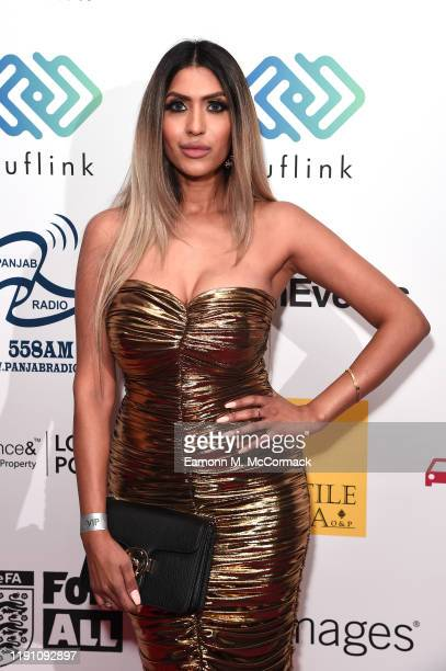 Tasha Tah attends the Brit Asia TV Music Awards 2019 at SSE Arena Wembley on November 30 2019 in London England