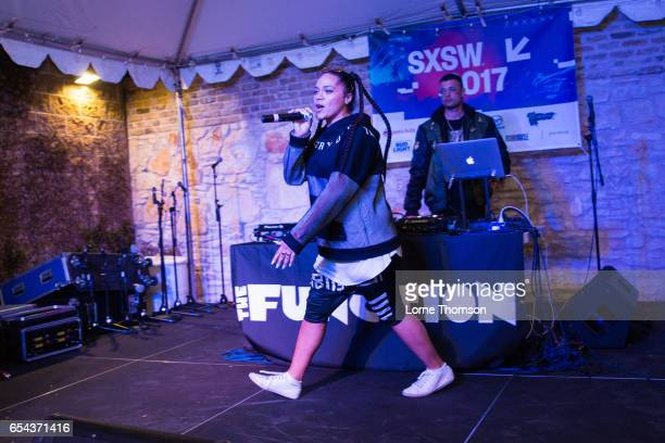 Tasha The Amazon performs at Palm Door On Sixth Patio on March 16 2017 in Austin Texas