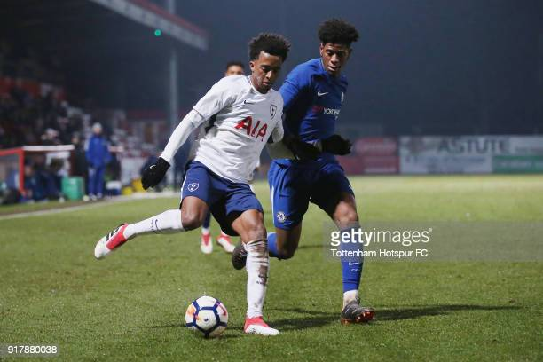 Tashan OakleyBoothe of Tottenham and Jonathan Panzo of Chelsea during the FA Youth Cup match between Tottenham Hotspur and Chelsea at The Lamex...