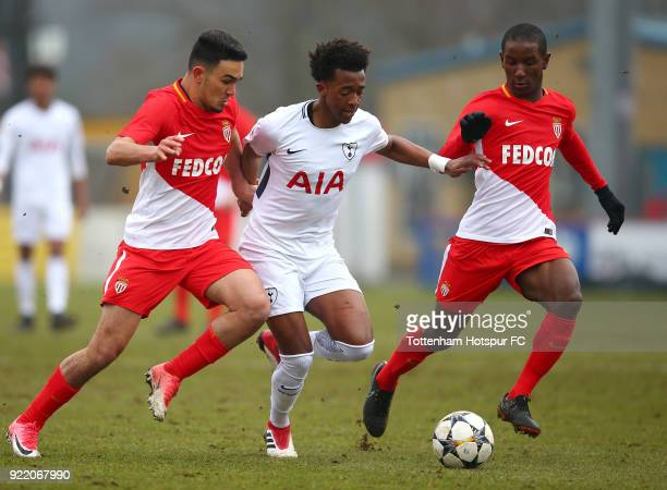 Tashan OakleyBoothe of Tottenham Hotspur runs with the ball at The Lamex Stadium on February 21 2018 in Stevenage England