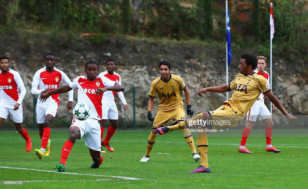 AS Monaco FC v Tottenham Hotspur FC - UEFA Youth Champions League : News Photo