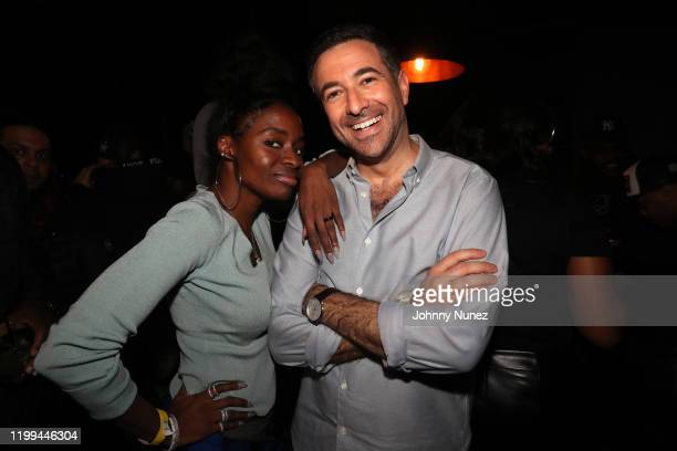 Tashara Jones and Ari Melber attend Uncle Murda's Album Release Party at Brooklyn Chop House on January 13 2020 in New York City