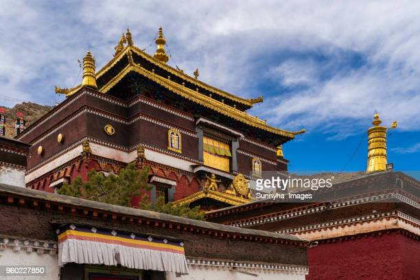 tashi lhunpo monastery - monastery stock pictures, royalty-free photos & images