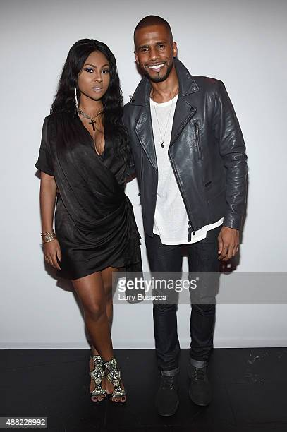 Tashiana Washington and actor Eric West attend Vivienne Tam Spring 2016 during New York Fashion Week The Shows during at The Arc Skylight at Moynihan...