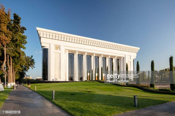 tashkent congress center designed by ippolito fleitz group, tashkent, uzbekistan - dictator stock pictures, royalty-free photos & images